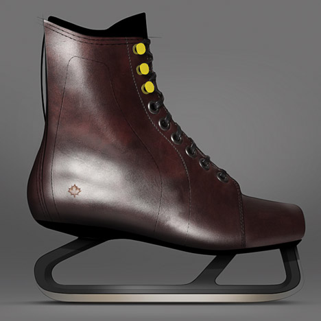 Jacknife designs leather ice skates based on vintage Canadian designs