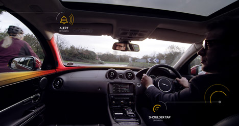 "Jaguar's cars could ""tap drivers on the shoulder"" to prevent cyclist deaths"