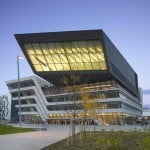 Cladding panel falls off Zaha Hadid's Vienna library