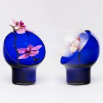 Kristine Five Melvær's Liv vases encircle flowers with a glass hood