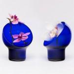 Kristine Five Melvær's Liv vases encircle flowers with a glass hood