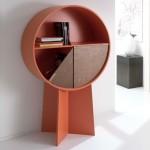 Patricia Urquiola's Luna cabinet conceals items behind pivoting doors