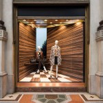 Martino Gamper plays with perspective for Prada window installations