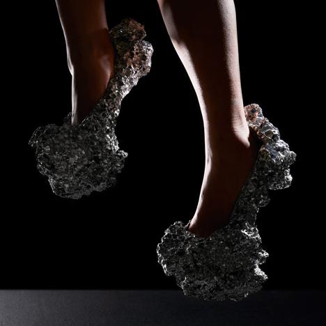 Studio Swine's Meteorite Shoes simulate space debris