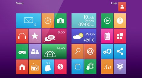 Image showing Windows 8 tiles – courtesy of Shutterstock