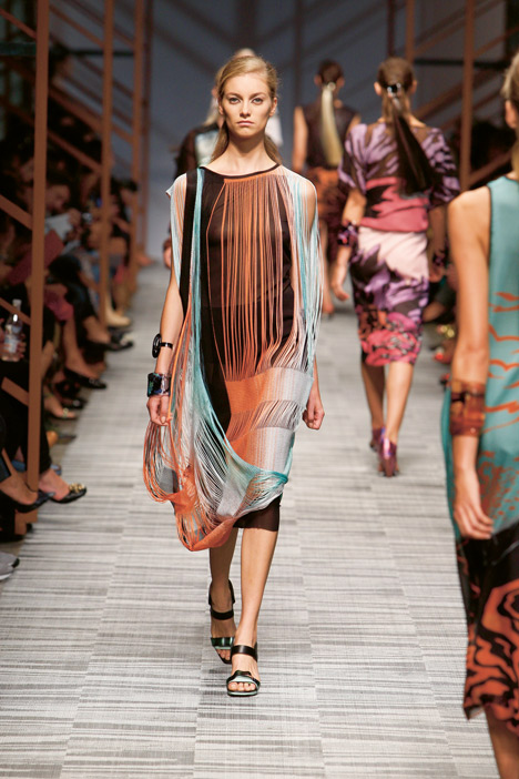 Missoni catwalk at Milan Fashion Week 2014 featuring Bolon flooring