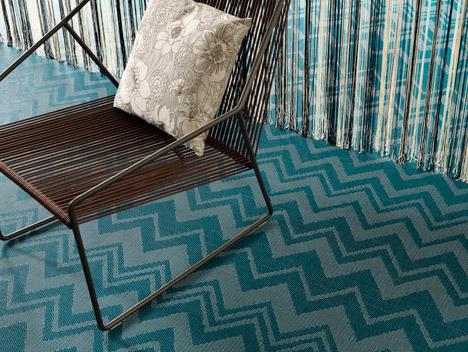 Bolon reinterprets Missoni's iconic zigzag for new flooring collection