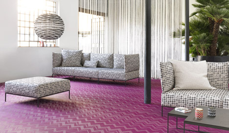 Missoni flooring collection by Bolon