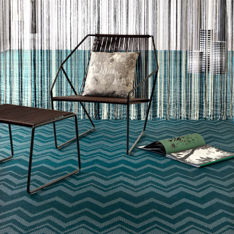 Bolon reinterprets Missoni's iconic<br /> zigzag for new flooring collection