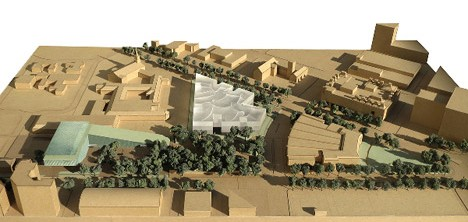 Model view of the Fayez S. Sarofim Campus