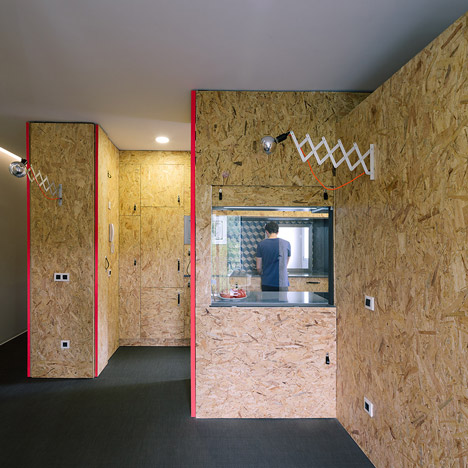 TallerDE2 Architects uses engineered wood to create adaptable Madrid apartment