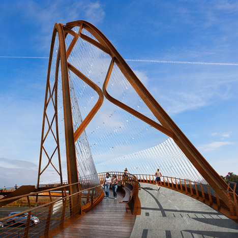 Palo Alto footbridge will span the 14 lanes of San Francisco's 101 freeway