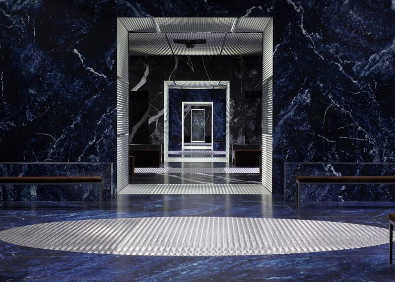 Prada AW15 menswear catwalk by OMA/AMO