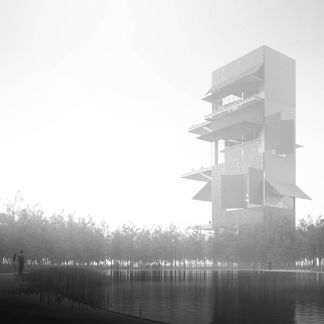 Work begins on Jean Nouvel's woodland arts complex in China