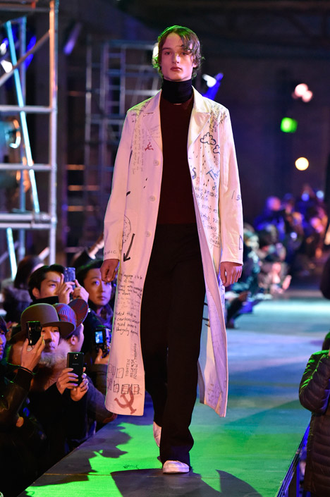 Raf Simons Kvadrat menswear, Autumn Winter 2015 at Paris Fashion Week