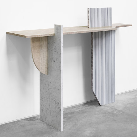 Robert Stadler combines construction materials in sculptures for Paris exhibition
