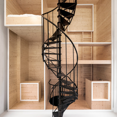 i29's wooden wall turns historic department<br /> store tower into artists' residence