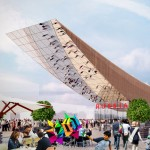 Sergei Tchoban designs 30-metre-long cantilever for Russia's Milan Expo pavilion