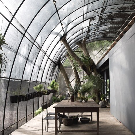 Woodland greenhouse by Divooe Zein Architects provides shelter for flora and fauna