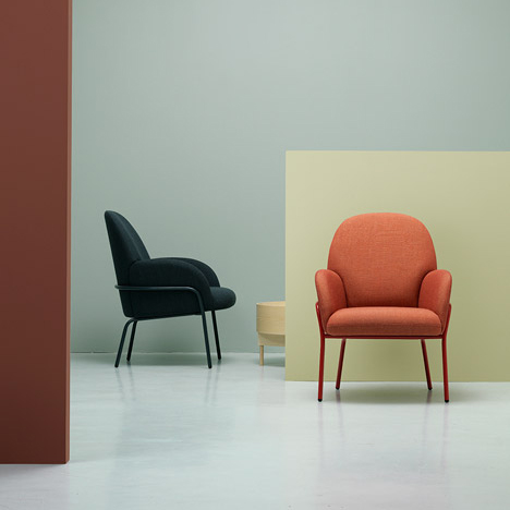 Sling chair by Note Design Studio is sized for compact spaces