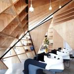 Cohta Asano divides Japanese hair salon with diamond-shaped partitions