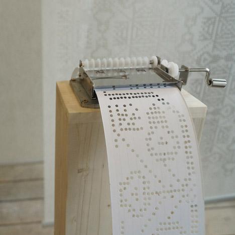Zsanett Szirmay turns cross-stitch patterns into musical scores