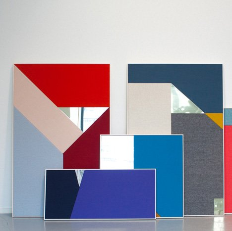 StokkeAustad's acoustic panels pair colourful fabric with metal and stone