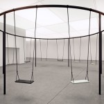 Philippe Malouin creates circular swing set with Caesarstone seats