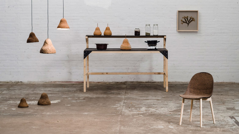 Seaweed and paper combine to create furniture