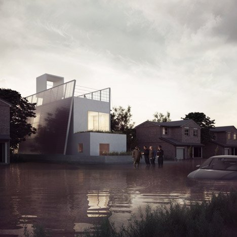 Carl Turner design open-source house that floats on floodwater