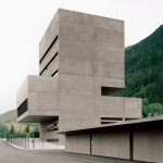 Concrete tower by Bechter Zaffignani houses a control centre for an Austrian power station