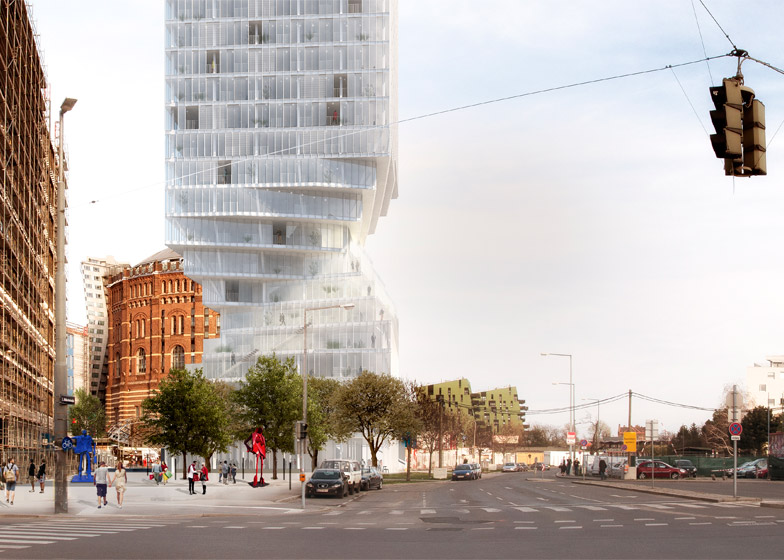 MVRDV win competition to design skyscraper in Vienna