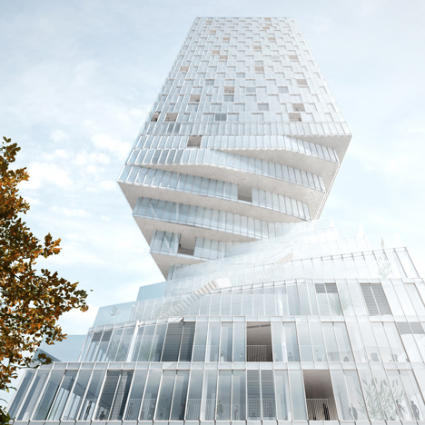 "MVRDV plans skyscraper with a ""curving waist"" for Vienna"
