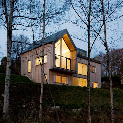 Kjellgren Kaminsky completes church-inspired villa beside a lake in Sweden