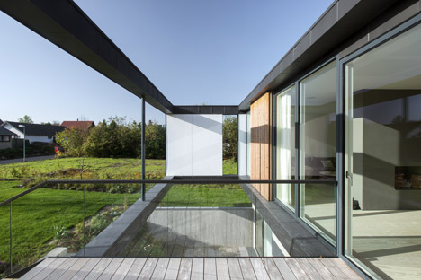 CF Møller's Villa R features a sunken floor for the clients' children