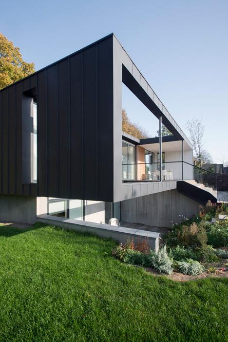CF Møller's Villa R features a sunken storey for the clients' children