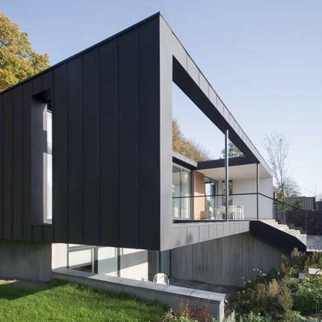 CF Møller's Villa R features a sunken storey for the clients' children