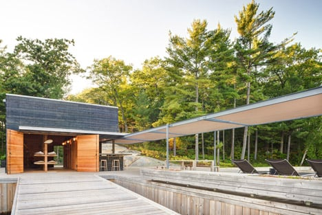 A Modern Boathouse In A Canadian Landscape By Weiss Architecture.