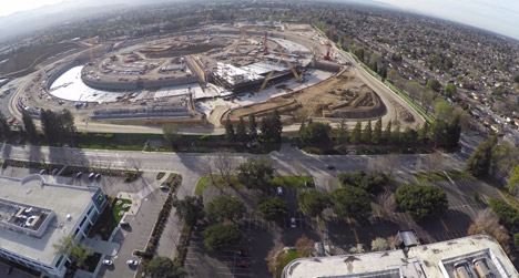 Apple Campus 2 drone footage