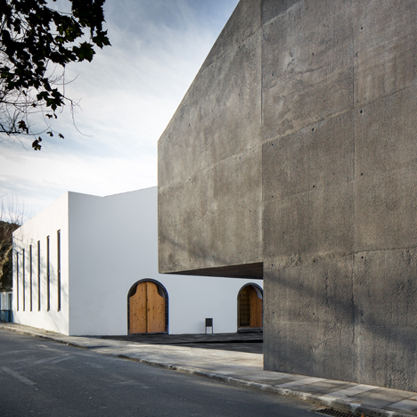 Contemporary arts centre on a Portuguese isle<br /> contrasts volcanic stone with concrete