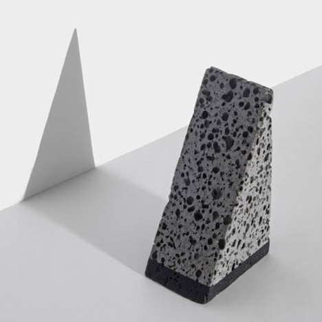 Basalt desk accessories by Jeonghwa Seo originate from a Korean island