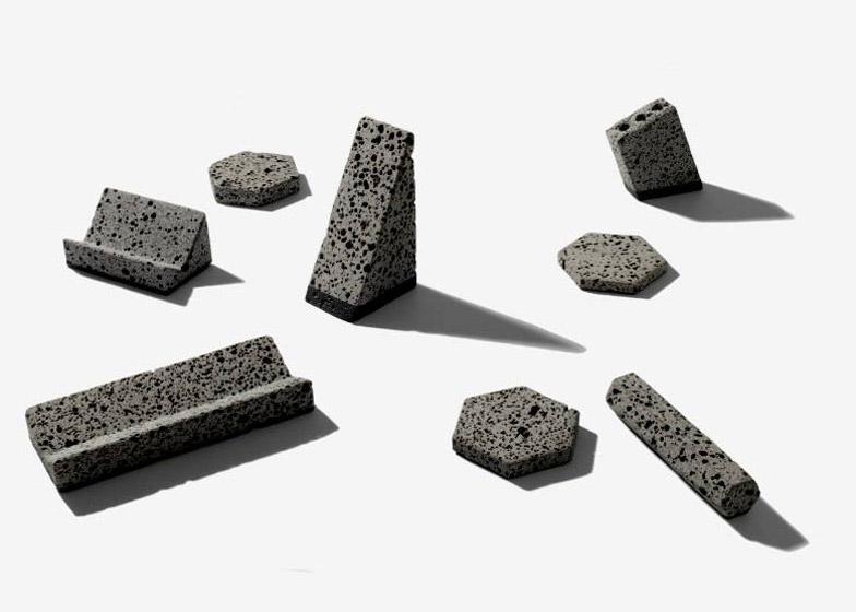 Basalt deskware series by Jeonghwa Seo