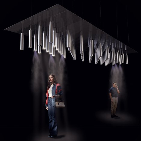 Cloud-Cast cooling installation by Carlo-Ratti Associati
