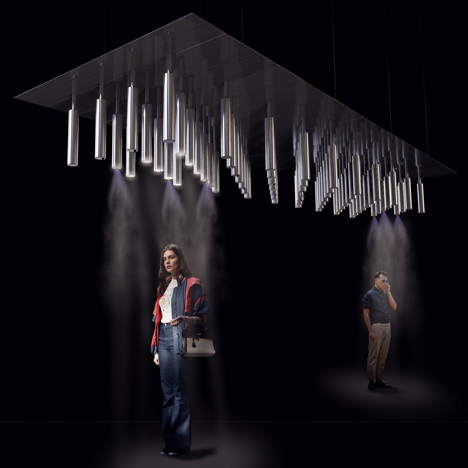 Cloud Cast cooling installation by Carlo-Ratti Associati