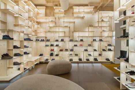 Camper store Milan by Kengo Kuma