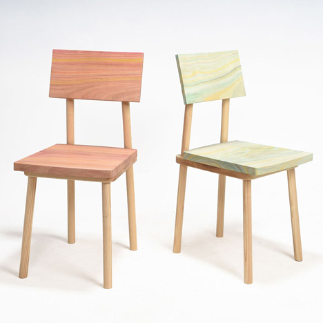 Yuki Yoshikawa accentuates Grain Chair with painted patterns