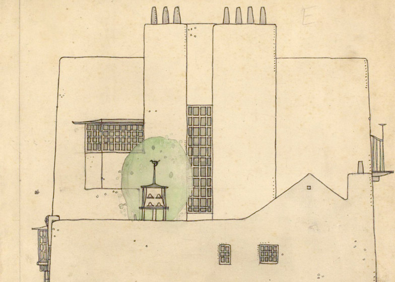 Artist's house and studio in the country by Charles Rennie Mackintosh