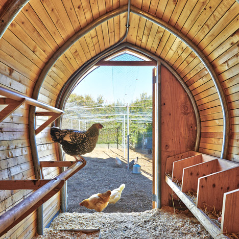 Sheffer Chicken Coop is a metal-clad New York home for eight hens