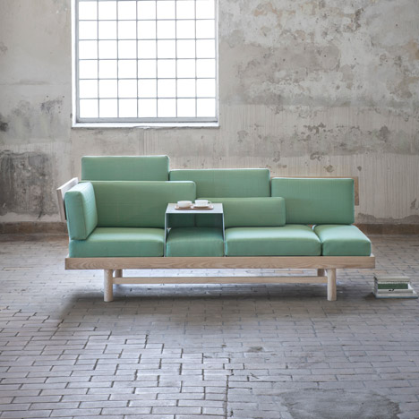 Dorme Sofa and Granit Bookends Greenhouse by Silje Nesdal
