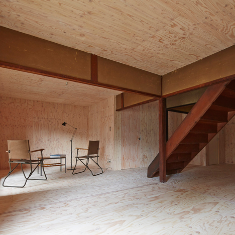 NAAD lines a century-old Japanese house with unfinished plywood